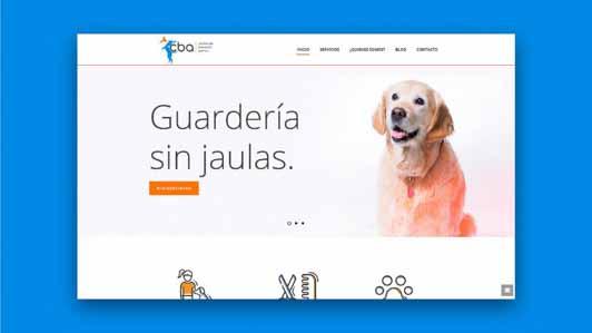 Diseño web guardería animales