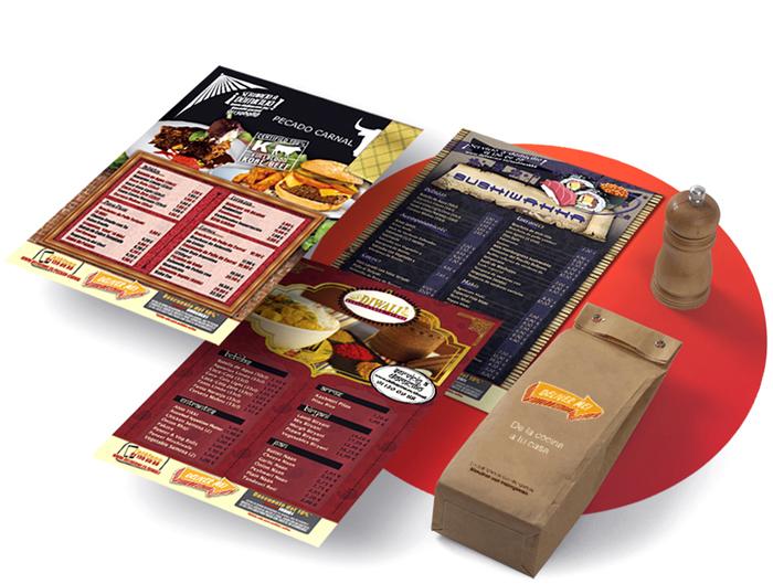 Diseño gráfico flyers Restaurante