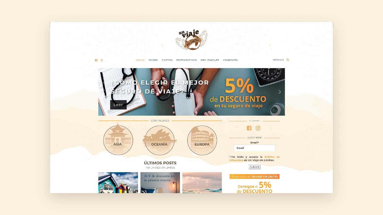 Diseño de blog de viajes en Guadalajara