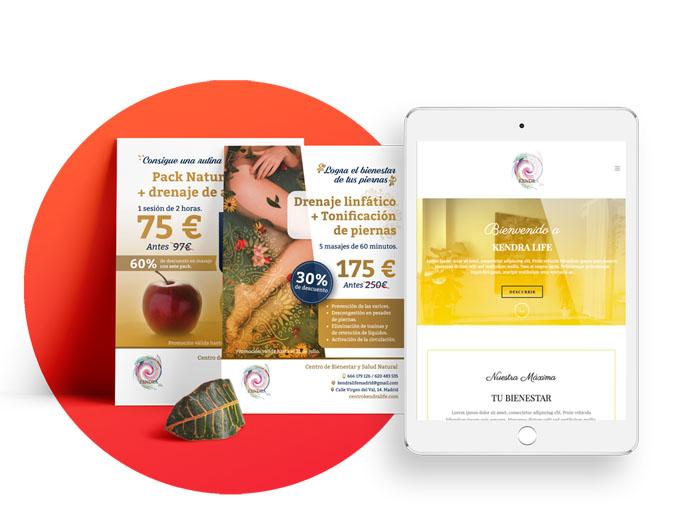Diseño página web Centro Kendra Life