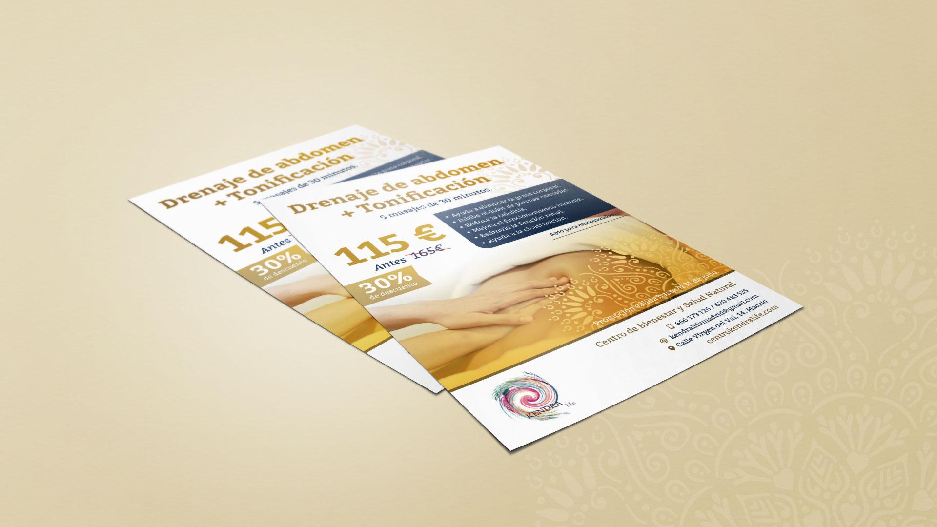 diseño gráfico de flyer publicitario