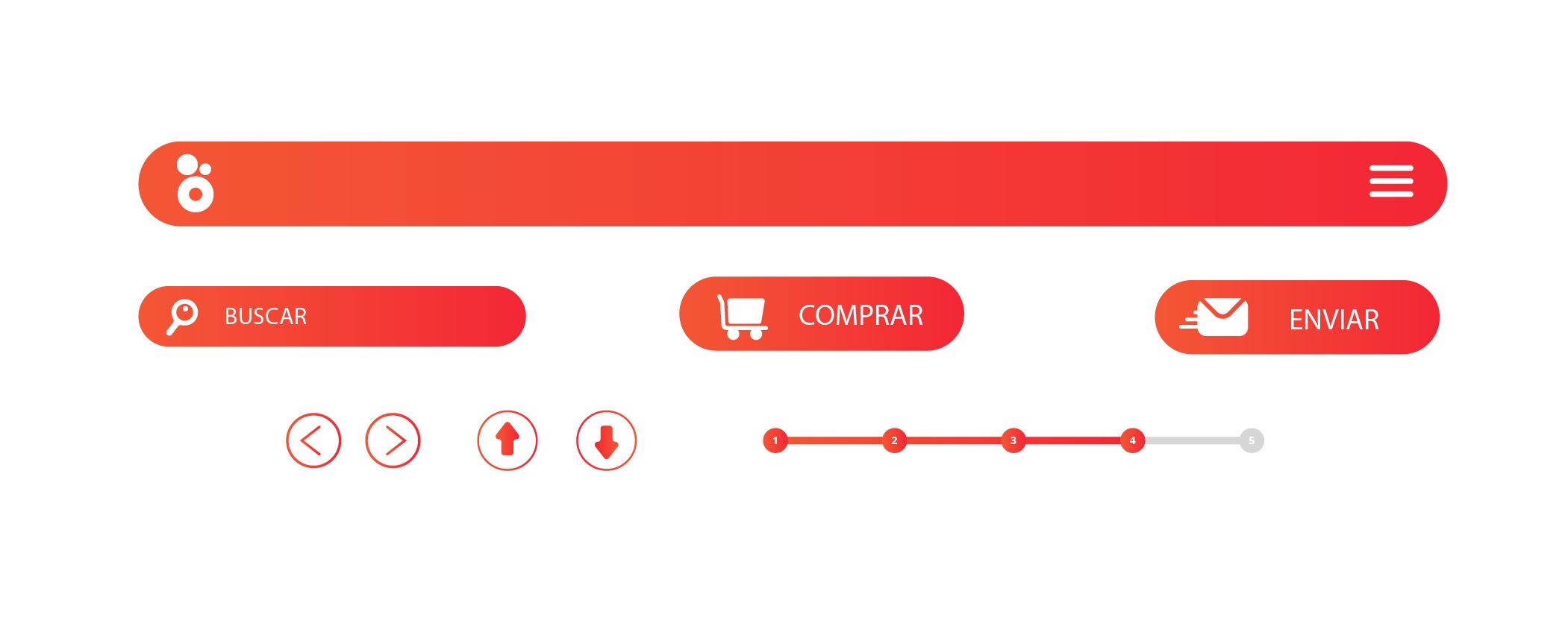 elementos de navegacion para página web que convierta
