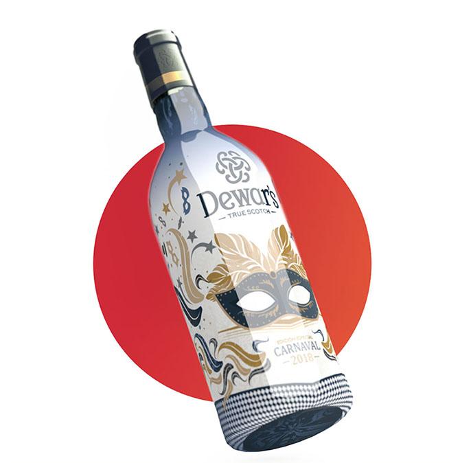 Diseño de Packaging promocional botella