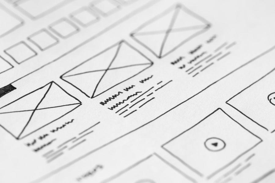 Wireframe diseño web